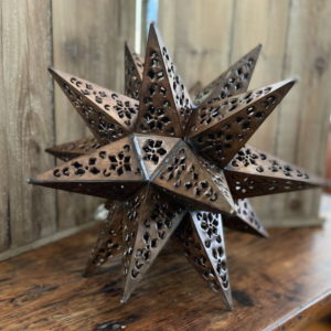 Medium Punched Tin Star Antique