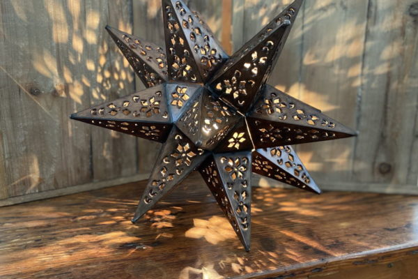 Med Punched Tin Star antique