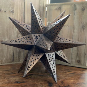 Large Punched Tin Star Antique