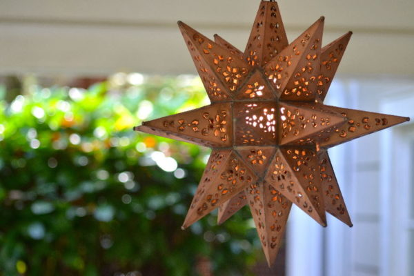 Large Punched Tin Star Copper