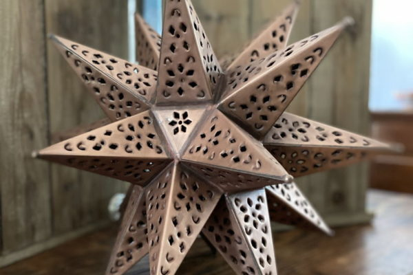 Medium Punched Tin Star Copper Finish