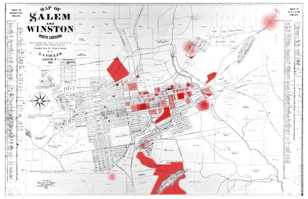 Old Salem Nc Map.Hidden Town Project Old Salem Museums Gardens